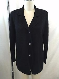 EXCLUSIVELY MISOOK BLACK BUTTON DOWN COLLAR CARDIGAN SIZE S