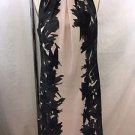 ANN TAYLOR CHARCOAL/ BEIGE PRINT SLEEVELESS SHIFT DRESS SIZE 4