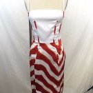 JUST CAVALLI WHITE RED PRINT SPAG STRAP BODYCON DRESS SIZE 42