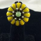 Ollipop Sweet Romance  Yellow stone Vintage Style Adjustable Ring 7 1/2