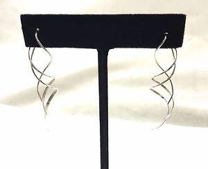 ".925 sterling swirl earrings Length 2 1/4"""