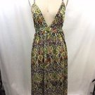 NIEVES LAVI YELLOW MULTI CIELO PRINT EMPIRE DRESS SIZE 6 RET $408