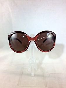 VALENTINO 5687/S BURGUNDY LARGE ROUND SUNGLASSES