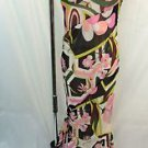 EMILIO PUCCI MULTI-COLOR SILK CHIFFON RUCHED SIDE SPAGHETTI HALTER DRESS SIZE 10