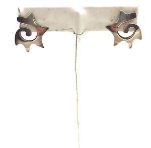 Vintage .925 Sterling Silver spiked circular Earrings