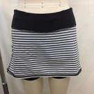 LULULEMON ATHLETICA BLACK/ WHITE STRIPED PACESETTER SKIRT/ SHORTS SIZE 2