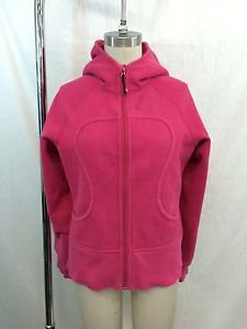 LULULEMON ATHLETICA HOT PINK ZIP FRONT SCUBA HOODIE SIZE 6
