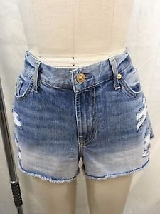 7 SEVEN FOR ALL MANKIND DISTRESSED CUT OFF JEAN SHORTS SIZE 30