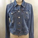 LEVI STRAUSS PATENTED DISTRESS JEAN JACKET SIZE M