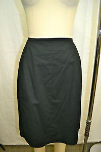 NARCISO RODRIGUEZ BLACK COTTON ZIP UP BACK SKIRT SIZE 8 RETAIL $620