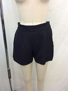 MARC JACOBS BLACK PLEATED ZIP SIDE SHORTS SIZE 6