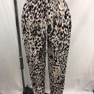 AUGUSTE LEOPARD JUNGLE PRINT GYPSY DRAWSTRING PANTS SIZE 4 RET $145