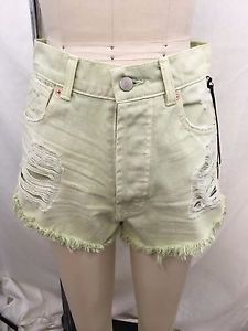 THE LAUNDRY ROOM CALIFORNIA MINT PISTOLS HIGH RISE CUT OFF SHORTS SIZE 27