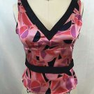 MARC BY MARC JACOBS CORAL SILK PRINTED BOW SIDE ZIP CAMI SIZE 2