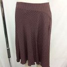 TRINA TURK BROWN/ PINK CHAIN PRINT SILK ASYMMETRICAL SKIRT SIZE 4
