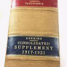 Consolidated Supplement Codes and General Laws of the State of California 1922