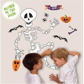 SALE ! Room Mates Halloween removable wall stickers Build a Skeleton