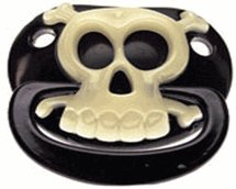 Billy Bob Skull and Crossbones Pirate Paci Soother Binky Halloween or Baby Shower gift idea!