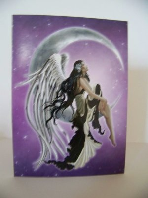 The Perfect Package - Goth purple and black winged Fairie card and paper