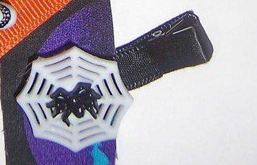 Custom Black Spider Web alligator ribbon hair clip