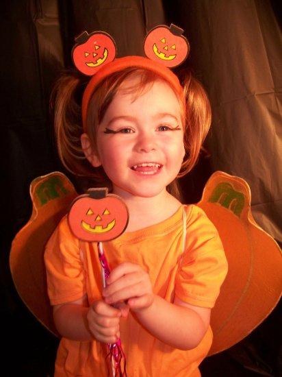 Pumpkin Princess costume set - wings, headband and wand Toddler / Child