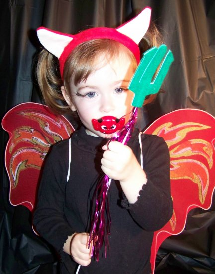 Little Devil costume set - wings, headband and wand Toddler / Child