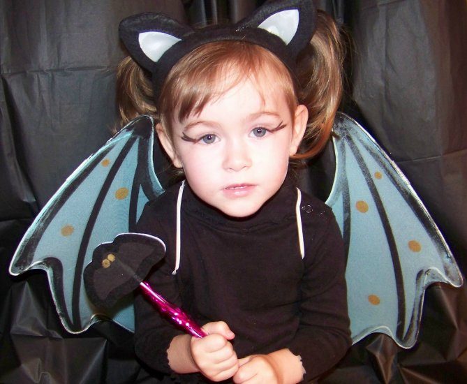 My Baby Blue Bat costume set - wings, headband and wand Toddler / Child