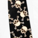 Men's skull and Crossbone Black Neck Tie