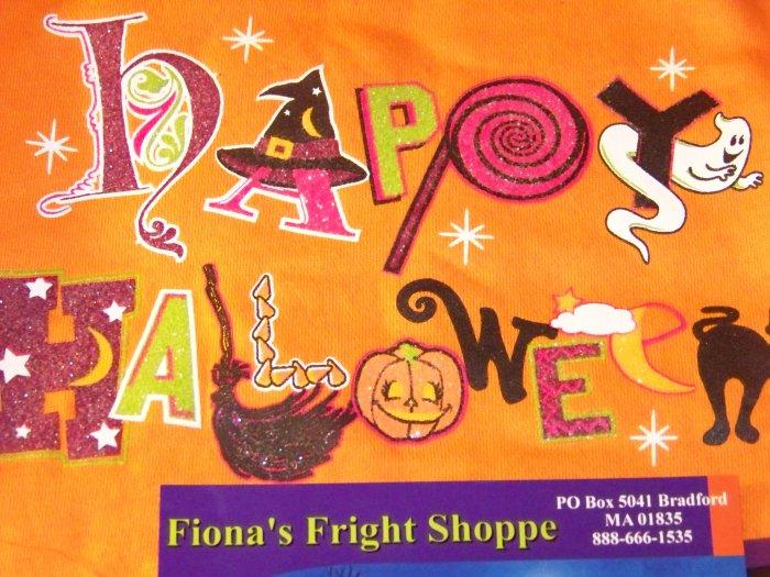 Happy Halloween Sparkle Orange Toddler 18 Months Sweatshirt Witch Cat Pumpkins Ghost and More!