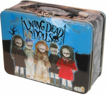SLASHED 50% Living Dead Dolls Series one Posey Sin Damien Sadie Eggzorcist metal carryall lunchbox