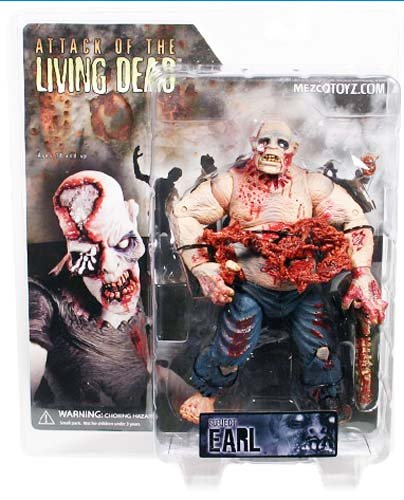 Attack of the Living Dead Series1 Earl Pale Strain Phase II Mezco Zombie figure SLASHED 40%