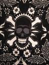 Custom T shirt dress BOTTOMS - Black and White Skull & Crossbone Flame Fabric 2T - 5T