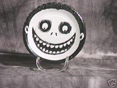 NIghtmare Before Christmas Party Plates ~ Barrel ~ Tim Burton Rare find 1993