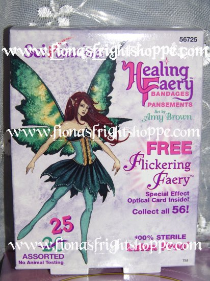 Bonus Pack Healing Faery Fairy hard to find Amy Brown Bandages w/ FREE Flickering Faery Card!