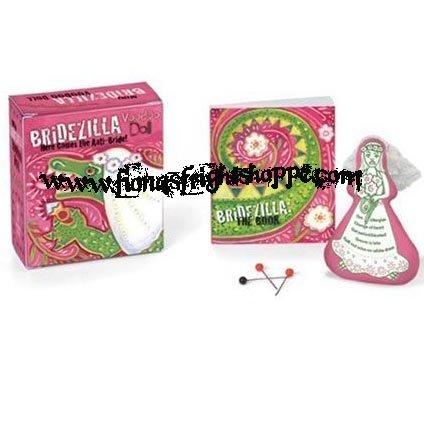 Mini Bridezilla Voodoo Doll Kit & Book  - Here comes the Anti-Bride! FREE SHIPPING!
