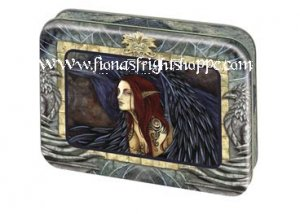 Amy Brown Fairy Faeries Morrighan Picture Frame Tin w/ 12 cards