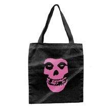 Misfits Tote Bag Pink Face Black