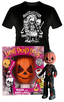LIVING DEAD DOLLS RETRO HallOWeeN Set - PUMPKIN
