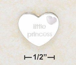 Little Princess enameled slide charm - Sterling Silver