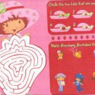 100 Strawberry Shortcake Disposable Activity Placemats ! WOW!