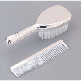 Silver Baby Brush and Comb keepsake set