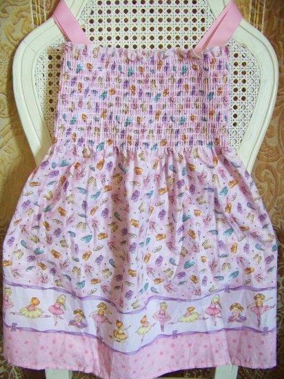 Custom Pink Princess Ballerina Sundress adjustable straps 3T / 4T