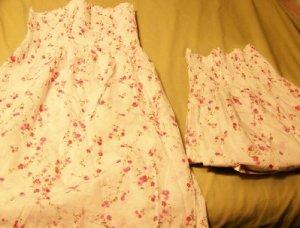 Mommy and Me set - Pink flowered Sundress set - Custom size!