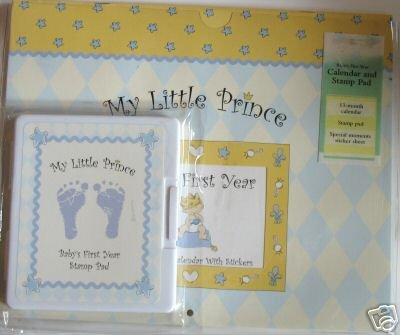 My Little Prince Baby's First Year Calendar with Stickers & Stamp Pad