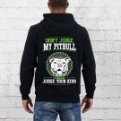 Don't Judge Pitbull Black Hooded Sweatshirt Size 2XL