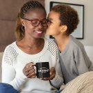 Promoted To Mommy Est 2021 Black New Mom Coffee Mug