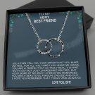 To My Very Best Friend Interlocking Rings Message Card