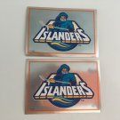2 New York Islanders 1995/96 PANINI Team Logo Foil Hockey Sticker Cards # 98