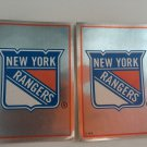 2 New York Rangers 1995/96 PANINI Team Logo Foil Hockey Sticker Cards # 109
