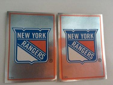 2 New York Rangers 1995/96 PANINI Team Logo Foil Hockey Sticker Cards # 109